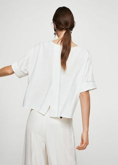 MANGO presents you its new collection. Have a look at our online catalogue and discover the latest fashion trends surfing along the jeans, T-shirts and . Mango Presents, Mango Fashion, Latest Fashion Trends, Jeans, Fashion Online, Cool Outfits, Bell Sleeve Top, Shirts, Collection