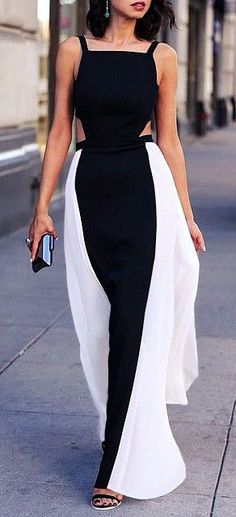 Cutout Maxi Dress #cleverdesign #slim #illusion