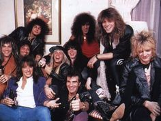 Bon Jovi and Cinderella. @bonjovi-cinderella   Tumblr #bonjovi #jonbonjovi #jbj #captainkidd #richiesambora #kingofswing #davidbryan #lemma #alecjonsuch #ticotorres #tomkiefer #cinderella #80smusic #80smetal #80srock #glamrock #hairmetal #glammetal #rockmusic #80s