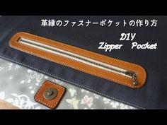 Como fazer um bolso com zíper How to Sew a Zippered Pocket/Free pattern/. Sewing Blogs, Sewing Hacks, Sewing Tutorials, Sewing Patterns, Sewing Leather, Leather Pattern, Leather Craft, Diy Crafts Tv, Pencil Case Tutorial