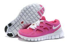 competitive price 5f2aa faee0 Womens Nike Free Run 2 Pink White Runs Shoes