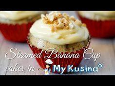 STEAMED BANANA CUPCAKES | My Kusina - YouTube Champorado, Cap Cake, Sinigang, Garlic Butter Shrimp, Steamed Cake, Banana Cupcakes, Latest Recipe, Fried Chicken, Yummy Cakes