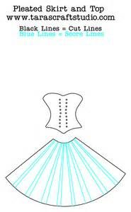 ... pleated skirt and top cutting file and template   Tara's Craft Studio