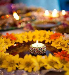 Reshma and Bilal; Mehndi at Zyka Banquet Hall Diy Mehndi Decorations, Mehendi Decor Ideas, Wedding Stage Decorations, Decoration Table, Marriage Decoration, Flower Decoration, Flower Centerpieces, Wedding Centerpieces, Wedding Table
