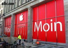 Apple Store, Hamburg, window cling.
