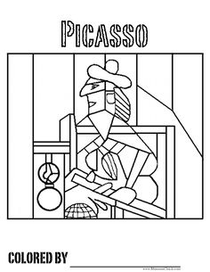 Pablo Picasso Coloring Pages Free Art Coloring Pages Museumchick Pablo Picasso, Kunst Picasso, Picasso Art, Art Espagnole, Coloring Pages, Coloring Books, Free Coloring, Kids Coloring, Coloring Sheets