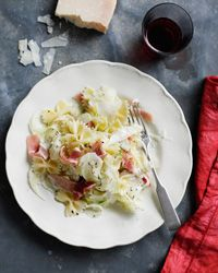 Bow-Tie Salad with Fennel, Prosciutto, and Parmesan - Quick and easy and delicious!