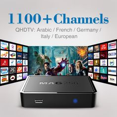 Top Quality IPTV BOX MAG 250 with 1100+Live TV Channels Arabic French Sky Italy Europe IPTV Box Free shipping