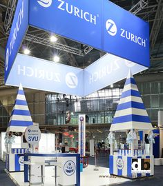 By sticking with the two tone palette of white and blue like Zurich did for Steadfast 2012, the theme of the show ground attraction was really applied!