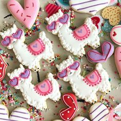 Our Favorite Valentine's Day Cookies in - B. Lovely Events - Anthony - Our Favorite Valentine's Day Cookies in - B. Lovely Events love these llama valentine's day cookies -See more of our favorite valentine's day cookies of 2019 on B. Fancy Cookies, Cut Out Cookies, Iced Cookies, Cute Cookies, Cupcake Cookies, Cupcakes, Valentine's Day Sugar Cookies, Summer Cookies, Cookie Favors