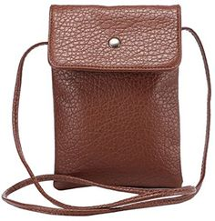 Hynice Crossbody Cell Phone Bag Premium PU Leather Cellphone Case Cover Mini Shoulder Sling Pouch Girls Purse for Apple iPhone 6 Samsung HTC other Smartphones Under 63 brown -- Continue to the product at the image link.