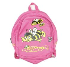 64686786bc ED HARDY by CHRISTIAN AUDIGIER Pink Bumblebee Bees Backpack 16