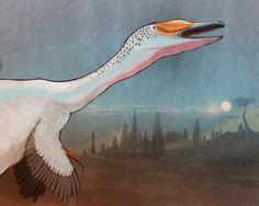 Austroraptor howls against the Full Moon by C.M. Kosemen
