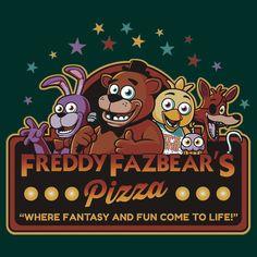 Five Nights at Freddy's Freddy Fazbear's Pizza FNAF logo | Unisex T-Shirt