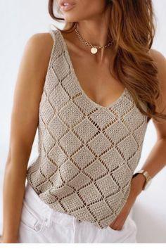 Crochet Baby, Knit Crochet, Knit Fashion, Womens Fashion, Knitting Paterns, Crochet Crop Top, Summer Shirts, Lace Tops, Baby Dress