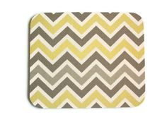 SALE -- Mouse Pad mousepad / Mat - Rectangle - Sunny Chevron - Gray and yellow Yellow Chevron, Classroom Decor, Classroom Organization, Gifts For Coworkers, Desk Accessories, Office Decor, Office Ideas, Mousepad, Christmas Sale