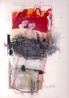 Collage Graphite Ink on Paper by Marie Bortolotto