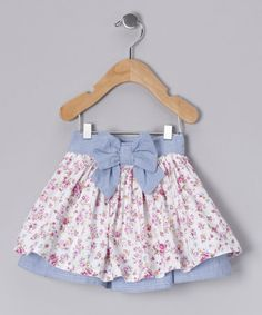 Take a look at this Blue Floral Bow Skirt - Infant by Adams on #zulily today!