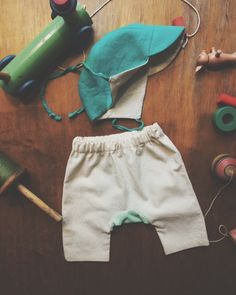 Garden Cap + Garden Trouser Set for baby