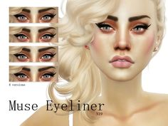Sims 4 Makeup Female - 'lash'