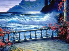 "Photo from album ""ЖИВОЕ ПИСЬМО"" on Yandex. Oil Painting Frames, River Painting, Sea Art, Paint By Number, Diy Canvas, Photos, Pictures, Beautiful Paintings, Ciel"