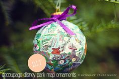 Disney Map Ornaments