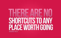 Shortcuts are never worth taking