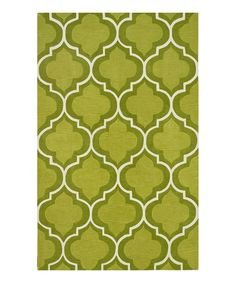 Look what I found on #zulily! Dalyn Lime Interlocking Infinity Rug by Dalyn #zulilyfinds