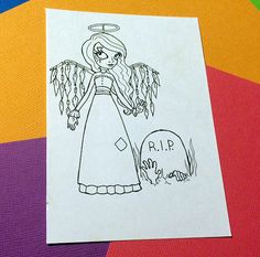 Zombie Angel Graveyard Undead Halloween PNG JPG No by FaeryInk