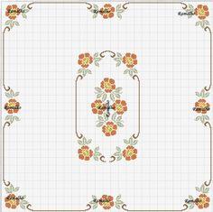 Ramalho C: Quadrado de rosas bicolor
