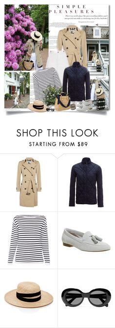 """""""Simple pleasures..."""" by nannerl27forever ❤ liked on Polyvore featuring Burberry, Barbour, Office, Janessa Leone, Acne Studios and Amrita Singh"""