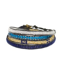 Our #Azul Wrap Bracelet helps employ deaf women in Kenya! #fairtrade #handmade