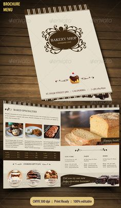 1000 images about marketing ideas on pinterest tri fold for Bakery brochure template free