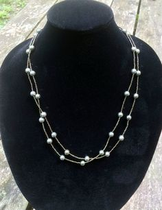 Pyrite necklace, iron pyrite necklace, long beaded pyrite necklace, long necklace, opera length - pinned by pin4etsy.com