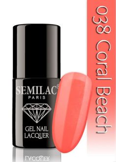 Semilac 038 Coral Beach UV&LED Nagellack. Auch ohne Nagelstudio bis zu 3 WOCHEN perfekte Nägel!
