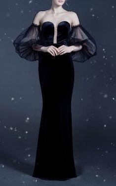 Velvet Dress by Yanina Demi Couture Fall Winter 2018