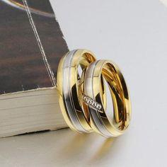 Bishilin Stainless Steel Ring Wedding Round Ring Polished Ring 1Pcs Couple Ring Band for Men Man 9