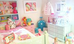 """28 Likes, 6 Comments - Miss Sweet & Silly {& her Mom} (@sweetandsilly_ag) on Instagram: """"Grace's Room in Our American Girl Dollhouse #agig #americangirl #americangirldoll…"""""""