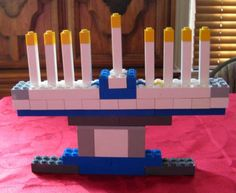 LEGO Menorah. Going