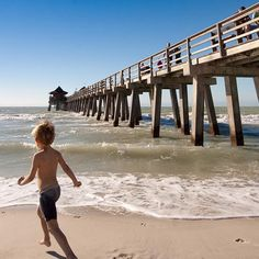 The Naples Municipal Beach & Fishing Pier is one of the most popular attractions in Naples, Florida. The newly renovated pier was built in 1888 as a freight and passenger dock, it continues to be a community landmark.