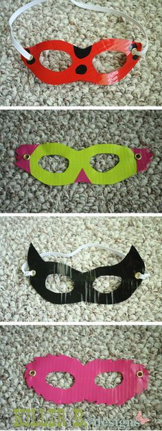 Duct-tape masks, great for (in)3 halloween themed workshop.