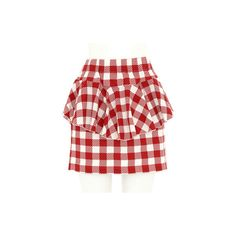 GINGHAM CHECK PEPLUM SKIRT ❤ liked on Polyvore featuring skirts, bottoms, gingham, gingham skirt, peplum skirt, red skirt, red gingham skirt and red peplum skirt