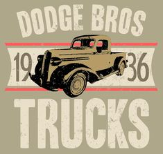 1936 Dodge Bros Trucks. Vintage style on Sand T-Shirt. This design can be done with ANY Car, ANY Model, ANY Year, ANY Color. Just send me an email with YOUR specs and I'll set it up for you. marko@digitalhotrod.com You will get a proof and a link to order your one-of-a-kind shirt!
