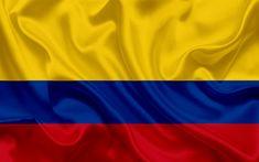 Descargar fondos de pantalla Bandera colombiana, Colombia, América del Sur, la seda, la bandera de Colombia National Symbols, National Flag, Latin American Flags, International Mother Language Day, Colombian Flag, Countries And Flags, Colombia South America, Map Wallpaper, Colombia Travel
