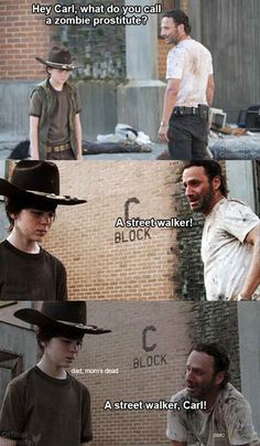 The 19 Greatest Dad Jokes From Rick Grimes; I could pretty much read these all day, haha!