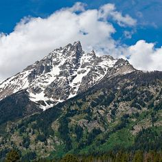 Grand Tetons Peak and Clouds