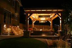 Landscapes Designed To Cater To Your Ideal Lifestyle. Sandbox, Night Light, Landscape Design, Grass, Backyard, Cabin, Space, Lighting, Luxury