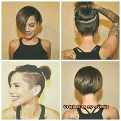 Nice short haircuts and styles women Undercut Long Hair haircuts Nice Short Styles Women Nice Short Haircuts, Edgy Short Hair, Short Hair Styles For Round Faces, Short Straight Hair, Short Hair With Bangs, Short Hair Styles Easy, Short Hair Cuts For Women, Curly Hair Styles, Short Hair Hacks