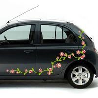Kit Sticker Voiture Frise Florale