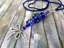 Kette  Libellen-Wiese blau
